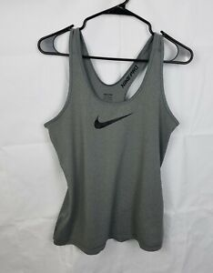 Nike Pro Core Dri Fit Fitted Tank Top Active Grey 589369-091 Womens Size Large