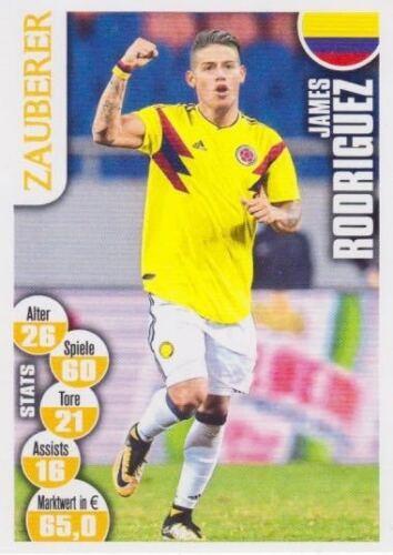 Bravo Sport Superstar WM Cards Russia 2018 James Rodriguez Bild NEU Columbia
