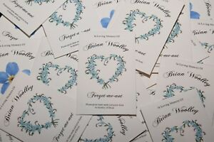 10-Personalised-Funeral-Favour-Forget-me-Not-In-Remembrance-including-seeds