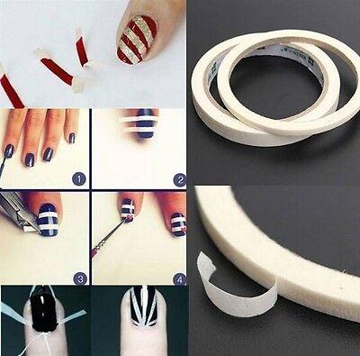 17m 0.5m/1.2m White Stripe Nail Tape Sticker Roll Nail Art Edge Guide Tips DIY