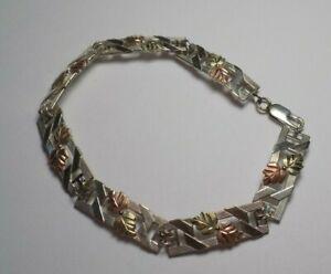 Blackhills-Gold-Over-Sterling-Silver-Vintage-Bracelet-C-CO-STER-12k