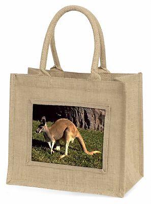 Känguru Große natürliche jute-einkaufstasche Weihnachten Geschenkidee, ak-2bln