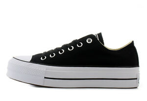 6da7b2f44d Details about Shoes Converse All Star Platform Wedge 4 cm Low Black White  Sole 2018- show original title