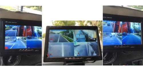 "4CH Car DVR Video Recorder Box 7/""Car Monitor CCD Front Rear Camera For Van Bus"