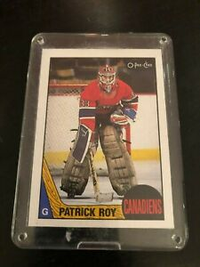 1987-87-88-O-Pee-Chee-OPC-163-Patrick-Roy-2nd-Year-NM