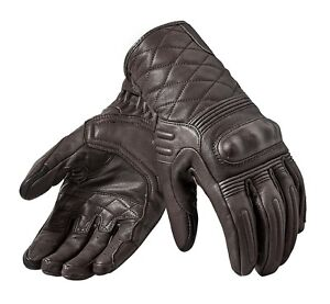 GUANTI-GLOVE-REV-039-IT-MONSTER-2-MARRONE-PELLE-BROWN-RACER-TOURING-PROTEZIONI-TG-XL