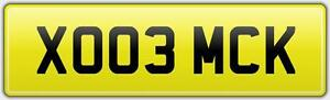 CHEAP-LEGAL-MICK-NUMBER-PLATE-WITH-FEES-PAID-XO03-MCK-MICHAEL-MIKE-MICKY-MICKEY