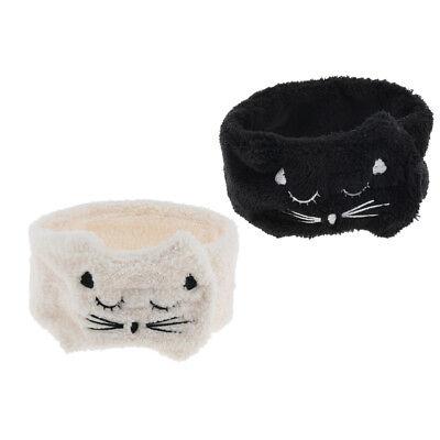 2pcs Elastic Makeup Face Wash Headband Shower Spa Hair Band Head Wraps Towel