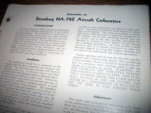 Details about Stromberg NA-Y8E Carburetor Install Service Overhaul Manual