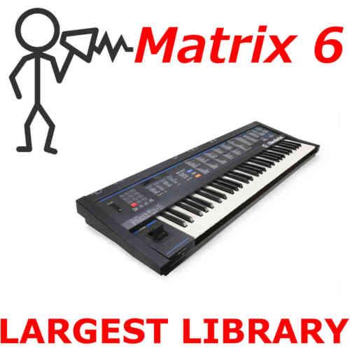 Largest Patch Sound Program Library SysEx D0wnload Oberheim Matrix 6 6r 10,000