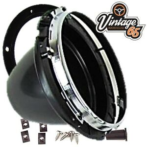 Classic-Car-Vintage-7-034-Sealed-Beam-Halogen-Conversion-Headlight-Bowl-amp-Fittings