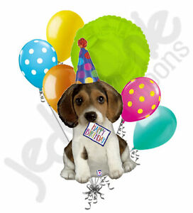 Image Is Loading 7 Pc Happy Birthday Puppy Balloon Bouquet Party