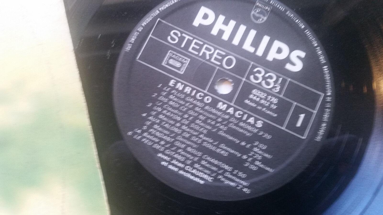 ENRICO MACIAS Un Rayon De Soleil LP france PHILIPS 6332176 orig vinyl rare  !!   eBayeBay
