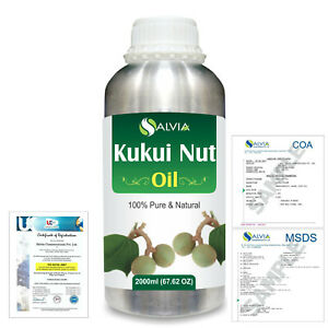 Beautiful Kukui Nut Pure Natural Oil 2000ml/67 Flz Express Shipping Firm In Structure aleurites Moluccans