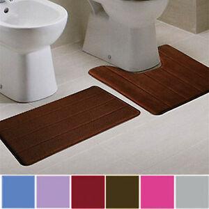 1Set-Bathroom-Memory-Foam-Mat-Toilet-Non-slip-Bathroom-Rug-Contour-Pads-2-in-1