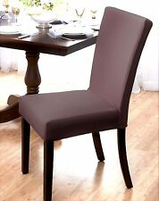 "MARKDOWN !! ""STRETCH"" DINING CHAIR COVER--SUBWAY TILE--FOREST--AVAIL IN 4 COLORS"