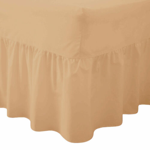 """10/"""" Box,16/"""" Frilled Fitted Valance Bed Sheets Single Double King Super king"""