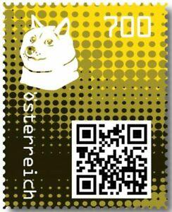 Crypto-Stamp-2-0-Doge-GELB-im-Folder-Postfrisch-MNH-4-Bilder-gt