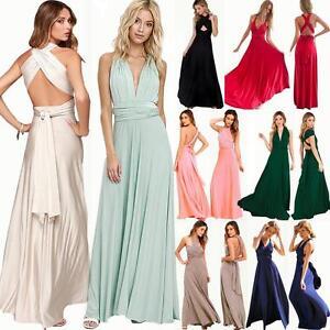Women-039-s-Evening-Dress-Convertible-Multi-Way-Wrap-Bridesmaid-Formal-Long-Sundress