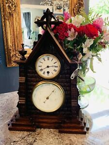 Antram Ebony Clock Antique