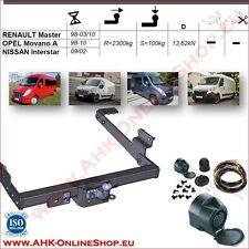 Gancio traino fisso Opel Movano A 1998-2010 + kit elettrico 13-poli