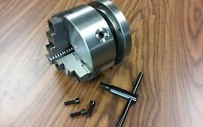 6 3 Jaw Self Centering Lathe Chuck Top Amp Bottom Jaws W 1 12 8 Adapter Plate