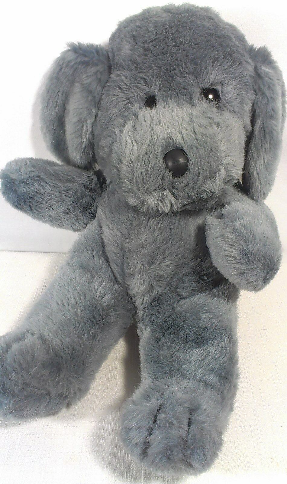 Woolworths Rare Vintage Dog Plush Smoky grau Stuffed Animal Puppy by  MTY 16