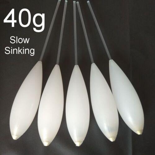 Slow Sinking Fishing Floats 5 Pieces//Lot Tear Drop Shaped Vertical Buoy Gear New