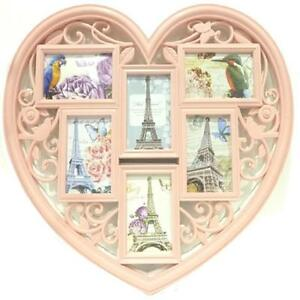 LARGE-PINK-LOVE-HEART-SHAPE-FAMILY-PHOTO-FRAME-MULTI-PICTURE-WALL