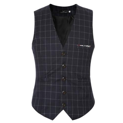 Mens Suit Vest Formal Business Wedding Party Tuxedo Waistcoat Jacket Coat Top XL