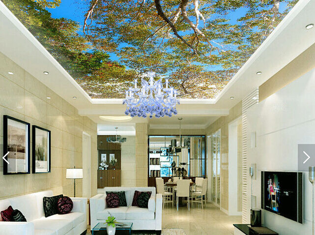 3D Sunligh Leaves 76 Ceiling WallPaper Murals Wall Print Decal Deco AJ WALLPAPER