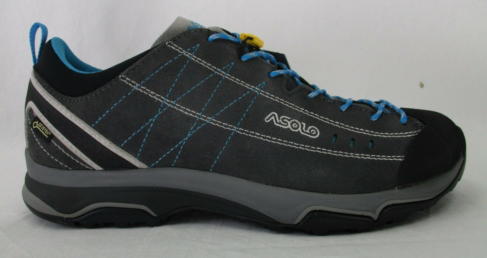 Asolo Womens Nucleon GV Hiking shoes A40013 Graphite Silver Cayan bluee Size 8