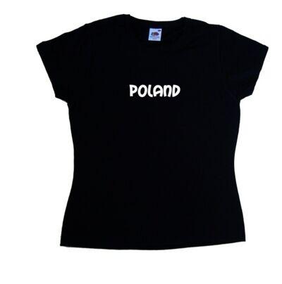 Poland text Ladies T-Shirt