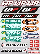 22x KTM WP MOTOREX Sponsor stickers decals graphics vinyl sticker sheet