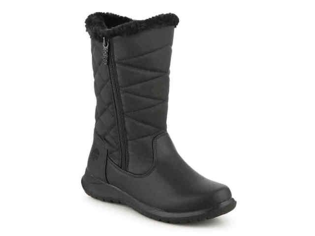 TOTES JONI Black Warm Winter Snow Boots