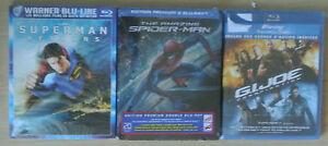 BLU-RAY-NEUF-THE-AMAZING-SPIDERMAN-GI-JOE-2-SUPERMAN-RETURN