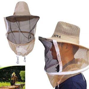 Beekeeping-Apiculteur-Visage-Tete-protection-Cowboy-hut-Moustique-Abeille