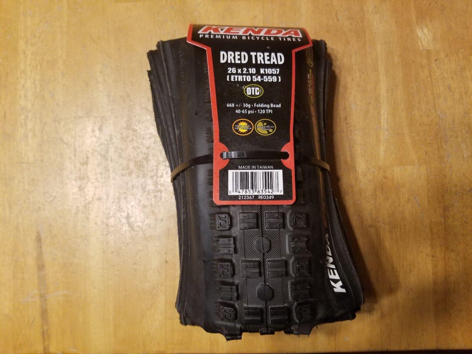 Kenda Dred Tread 26 X 2.10 DTC Mountain Bike Tire - Folding Bead 120 TPI