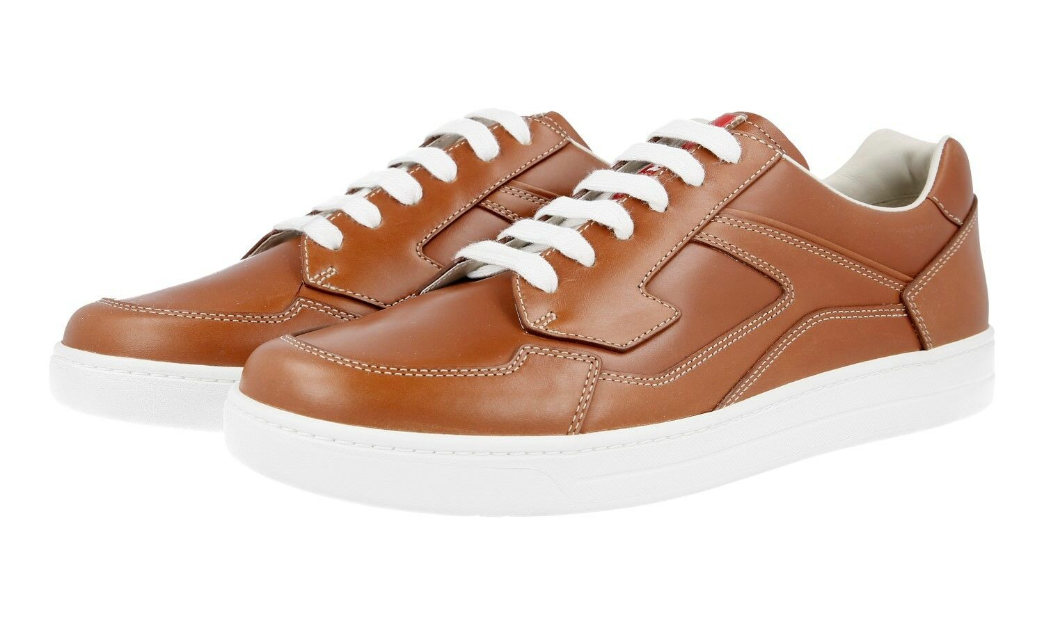 AUTHENTIC LUXURY PRADA SNEAKERS SHOES 4E2797 BROWN NEW 7 41 41,5