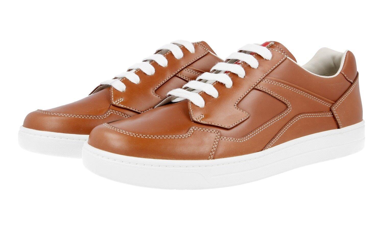 Auténticos zapatos deportivos zapatos Prada de lujo 4E2797 Marrón Nuevo 8 42 42,5