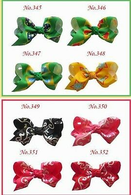 """50 BLESSING Good Girl Boutique 3.5/"""" New Rainbow ABC Hair Bows Clip Accessories"""