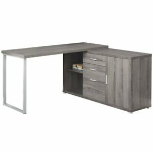 Details About Monarch L Shaped Corner Computer Desk In Dark Taupe