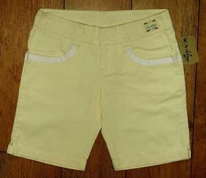 Bnwt-Women-039-s-Authentic-Oakley-Spring-Shorts-Size-14-Bleached-Yellow-New