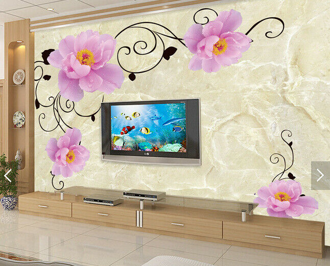 3D Peony Squid 489 Wallpaper Murals Wall Print Wallpaper Mural AJ WALL AU Kyra