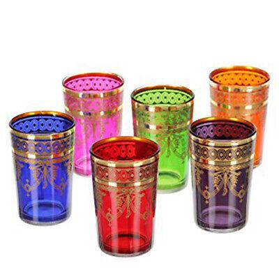 6er Set marokkanische teegläser Mansour Arabische Orientalische Gläser Orient