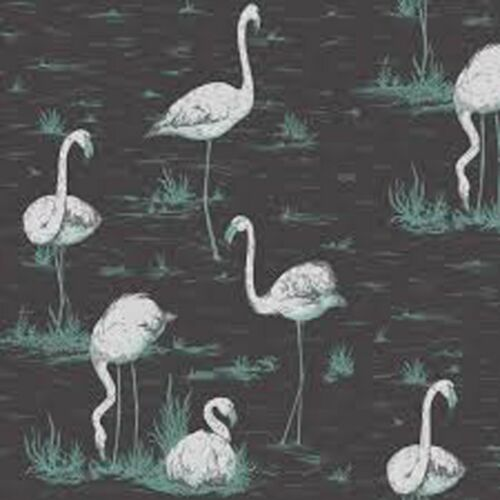 Other Colors Available Wall Paper Key West Flamingo Vintage Retro Modern