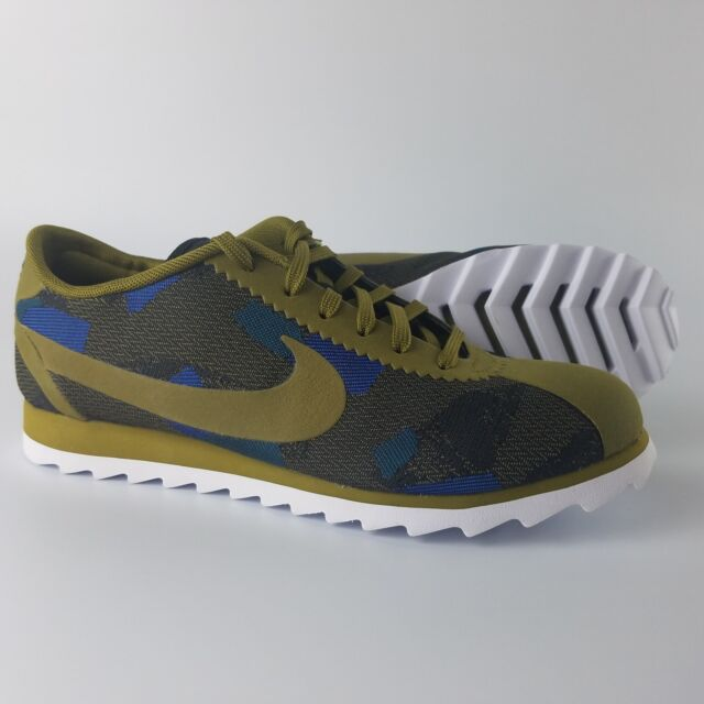 new products f0159 8f509 Nike Cortez Ultra Print Running Shoes Womens Size 6 Olive Flak Blue  844894-300