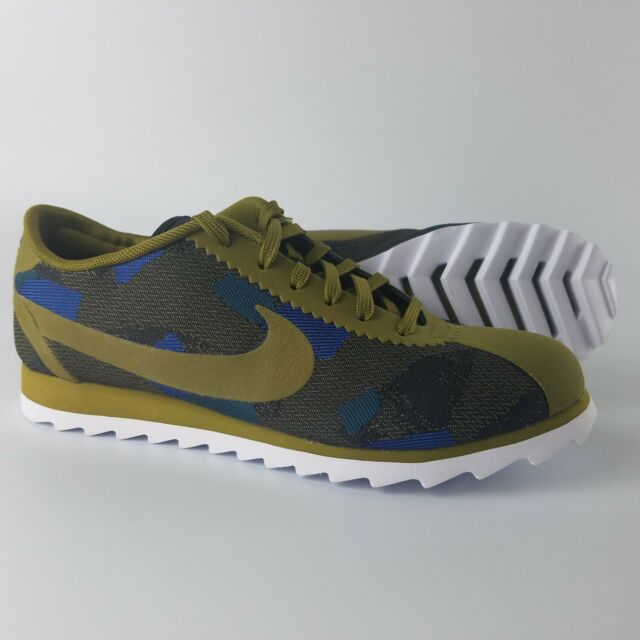 new products a5794 0baf0 Nike Cortez Ultra Print Running Shoes Womens Size 6 Olive Flak Blue  844894-300