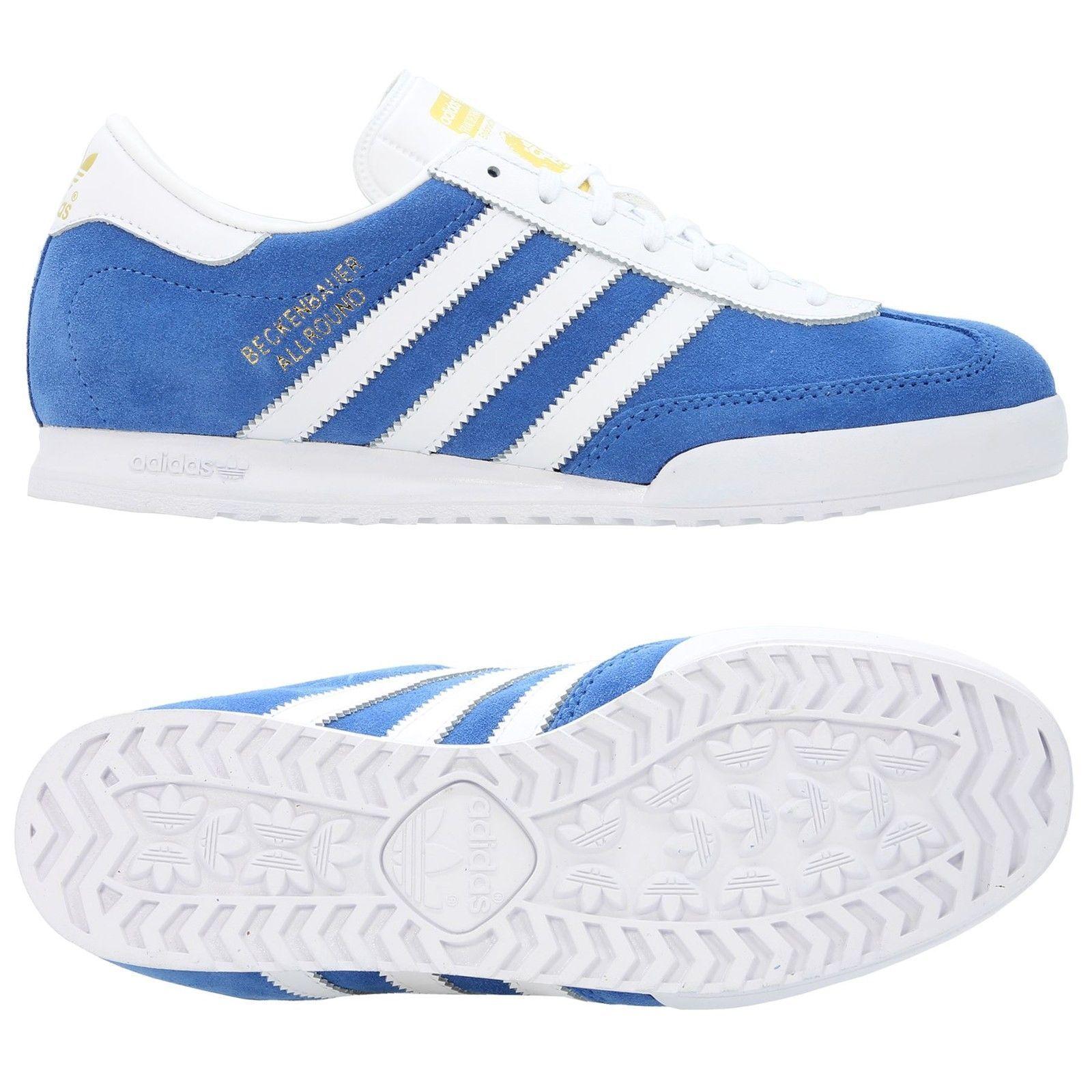NUOVI Pantaloncini Uomo Adidas Beckenbauer All Round Trainer blu Taglia 8 - 12