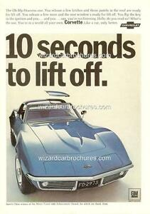 1968 CHEVROLET CORVETTE A3 POSTER AD SALES BROCHURE MINT ADVERTISEMENT ADVERT